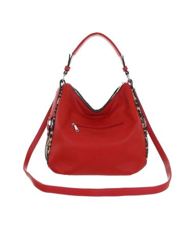 Dudlin Firenze dámská červená hobo kabelka Leopard 3835 ta3835118rd