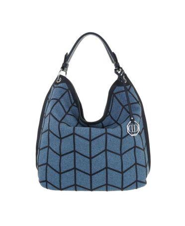 Dudlin Firenze dámská modrá hobo kabelka 5335 ta533572be