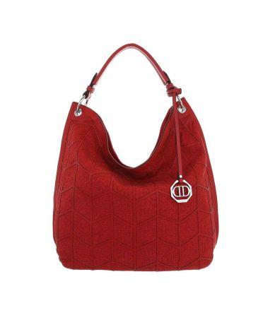 Dudlin Firenze dámská červená hobo kabelka 5335 ta533572rd