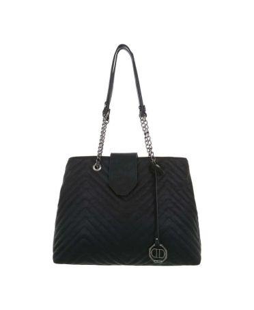 Dudlin Firenze černá dámská prošívaná kabelka 9135 ta913545bk