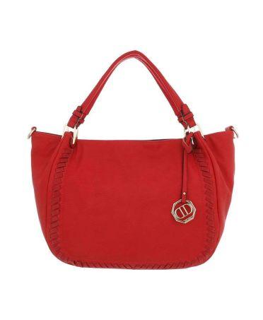 Dudlin Firenze červená shopper kabelka 6635 ta663559rd