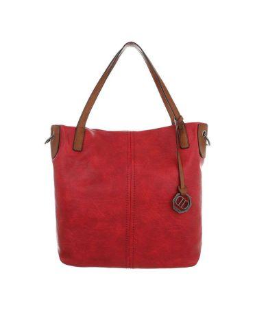 Dudlin Firenze červená shopper kabelka 6240 ta6240156rd