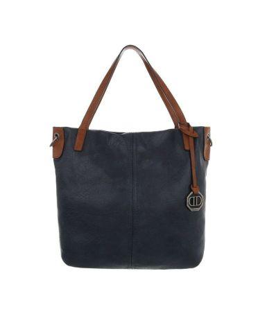 Dudlin Firenze tmavě modrá shopper kabelka 6240 ta6240156be