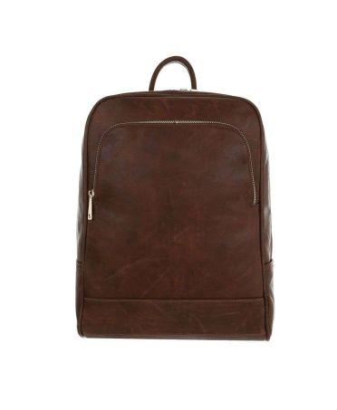 Dudlin Firenze hnědý lesklý batoh unisex 9135 ta913583bn