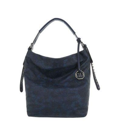 Dudlin Firenze tmavě modrá kabelka přes rameno embroidery 9335 ta93355be