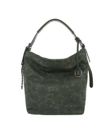 Dudlin Firenze zelená kabelka přes rameno embroidery 9335 ta93355gn