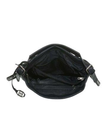 Dudlin Firenze černá kabelka přes rameno embroidery 9335 ta93355bk