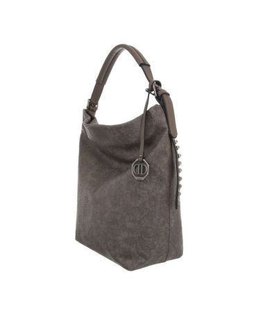 Dudlin Firenze šedohnědá kabelka přes rameno embroidery 9335 ta93355terra