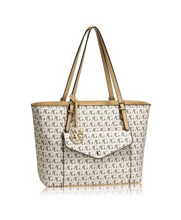 Anna Grace bílá kabelka shopper s přední kapsou velká 535 AG00535_WHITE