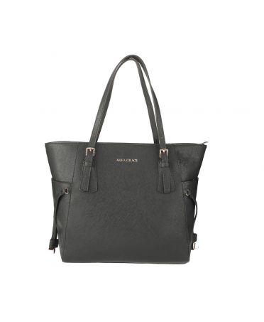 Anna Grace černá shopper kabelka 752 AG00752_BLACK