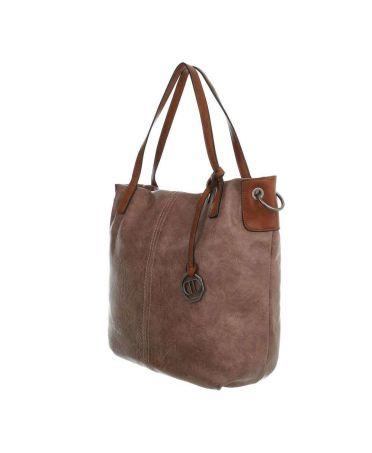 Dudlin Firenze béžová shopper kabelka 6240 ta6240156te