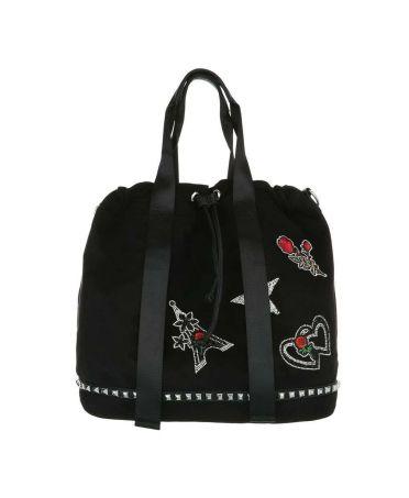 Dudlin Firenze černá kabelka přes rameno applique 2935 ta293525bk