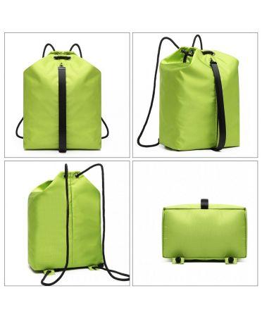 Kono zelený batoh unisex MULTI ACCESS DRAWSTRING 1966 E1966GN