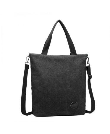 Kono černá taška přes rameno UNISEX CANVAS 1965 E1965BK