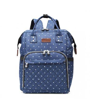 Kono multifunkční modrý dámský batoh taška na kočárek DOTTED 6705 E6705D2NY
