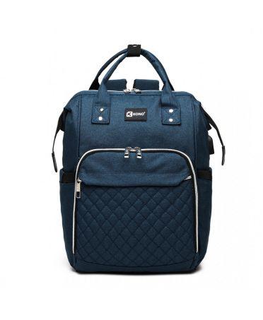 Kono mateřský přebalovací batoh na kočárek modrý s USB 6705 E6705USBNY