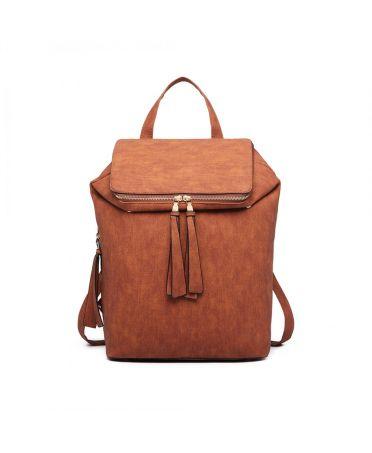 Miss Lulu hnědý dámský batoh EXPANDABLE 6903 LG6903BN