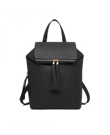Miss Lulu černý dámský batoh EXPANDABLE 6903 LG6903BK