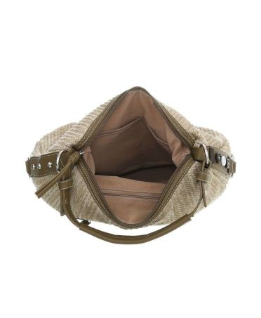 Dudlin Firenze béžová hobo kabelka KNITWEAR PEASOCKBLUE 20 tacm201peasockblue
