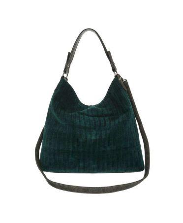 Dudlin Firenze zelená hobo kabelka TEXTIL KNITWEAR 2335 ta2335414gn