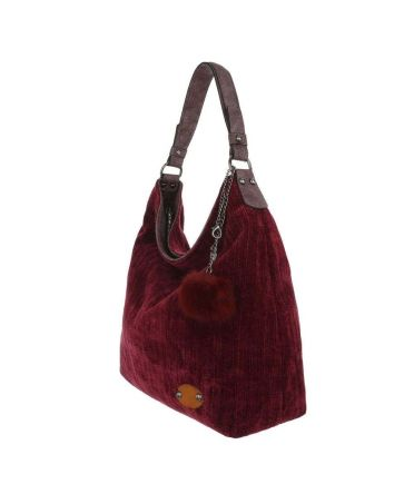 Dudlin Firenze vínově červená hobo kabelka TEXTIL KNITWEAR 2335 ta2335414rd