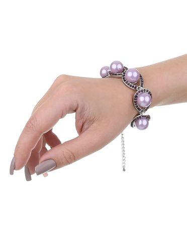 Dudlin Firenze dámský náramek s vínovými kamínky VIOLET 42987 bjd-42987-violet