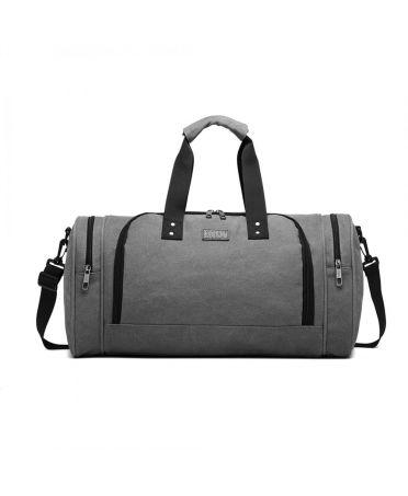 Kono cestovní taška šedá unisex CANVAS BARREL 1957 E1957GY
