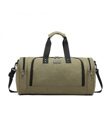 Kono cestovní taška zelená unisex CANVAS BARREL 1957 E1957GN