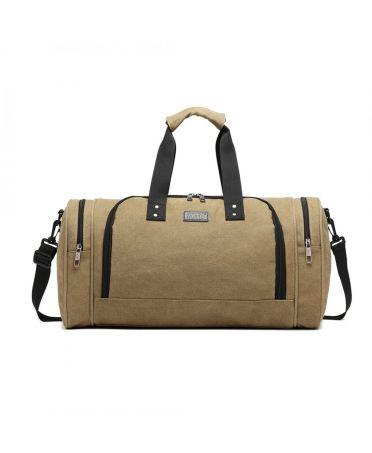 Kono cestovní taška námořnicky khaki unisex CANVAS BARREL 1957 E1957KI
