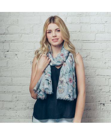 Hazel & Pip modrý dámský maxi šátek VALE 1265 zd1265c61