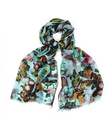 Hazel & Pip modrý maxi šátek Marigold 2203 zc2203c02