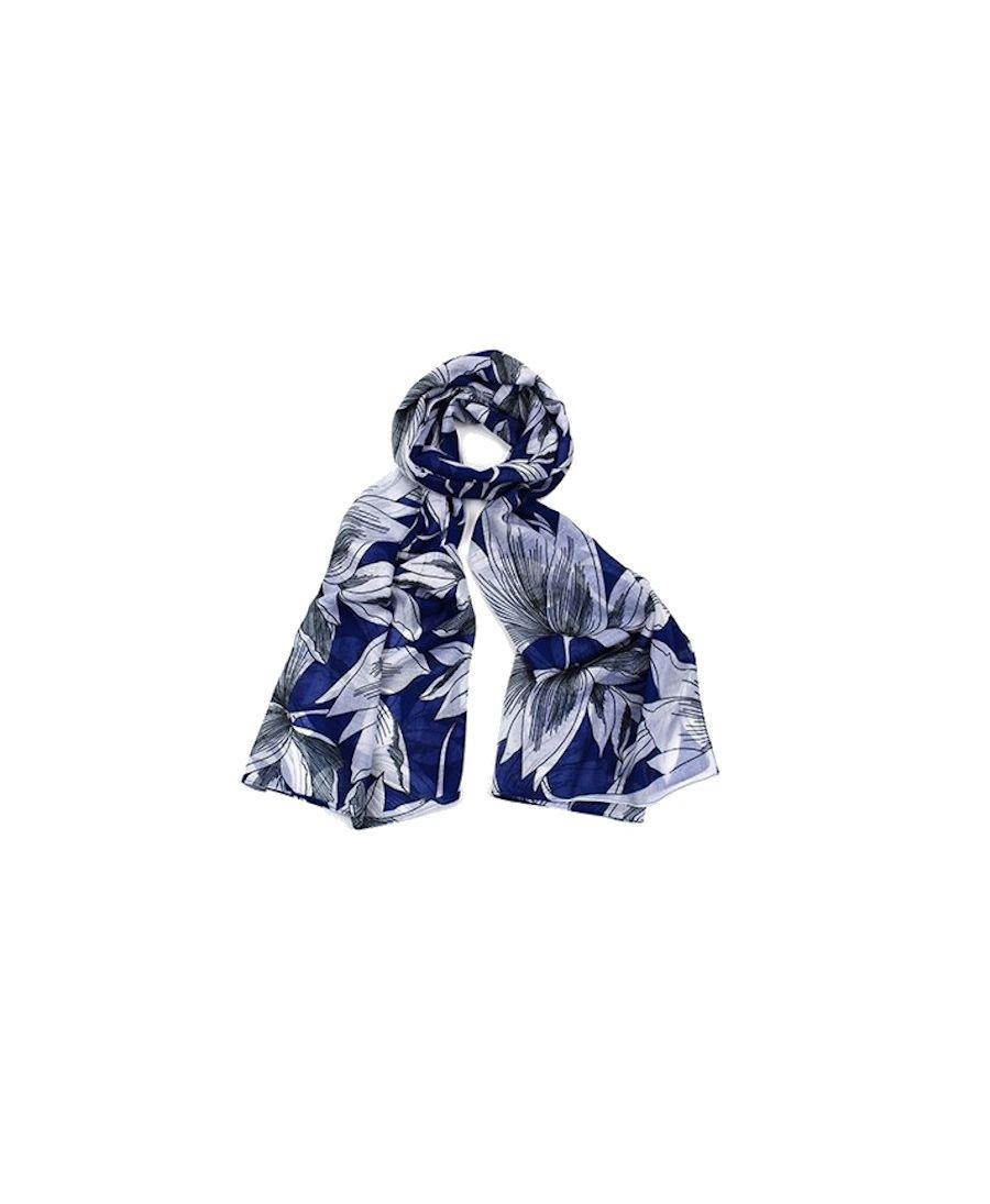 Hazel & Pip modrý maxi šátek Grace 2210 zd2210c02