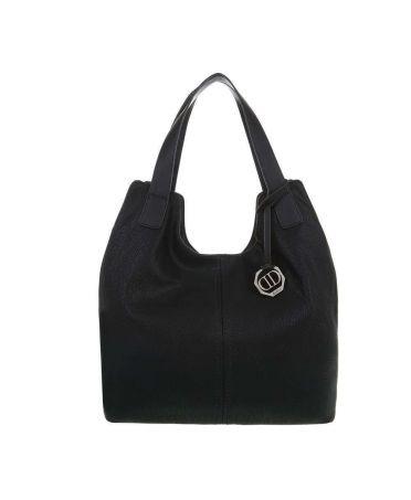Dudlin Firenze černá shopper kabelka 6240-138 ta6240138bk
