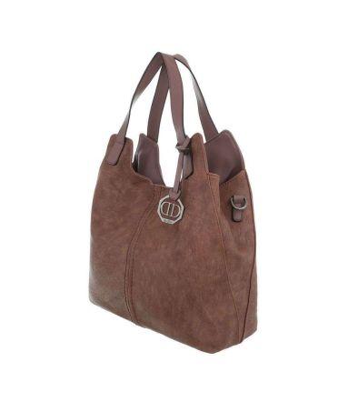 Dudlin Firenze hnědorůžová shopper kabelka 6240-138 ta6240138pk