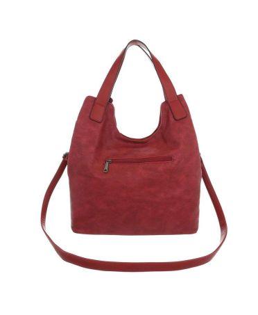 Dudlin Firenze červená shopper kabelka 6240-138 ta6240138rd