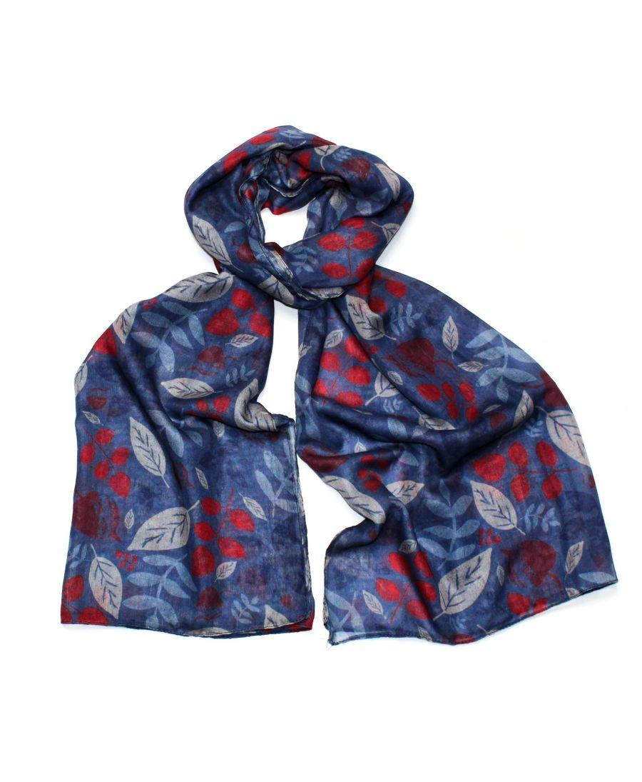 Hazel & Pip modrý dámský maxi šátek Yorkshire 3002 zc3002c02_BLUE