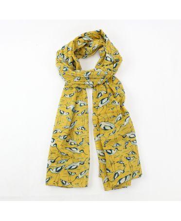 Hazel & Pip žlutý dámský maxi šátek Avocet 3013 rs3013mustard