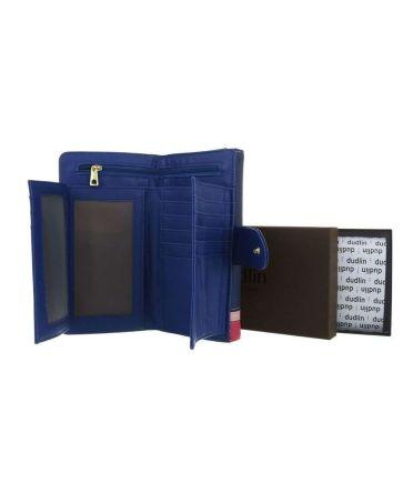 Dudlin Firenze modrá dámská peněženka SIDE BAR 589 gp-m589-blue