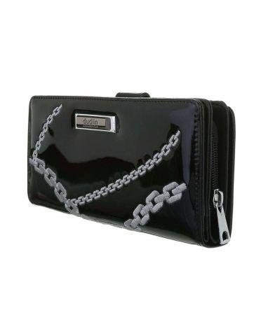 Dudlin Firenze černá dámská peněženka CHAIN 643 gp-m643-black