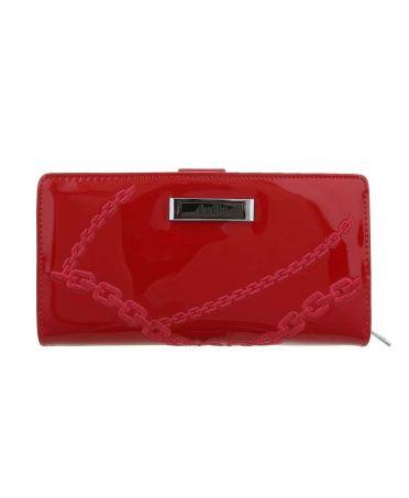 Dudlin Firenze červená dámská peněženka CHAIN 643 gp-m643-red