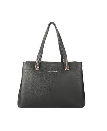 Anna Grace černá střední shopper kabelka 736 AG00736_BLACK