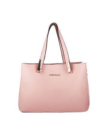 Anna Grace růžová střední shopper kabelka 736 AG00736_PINK