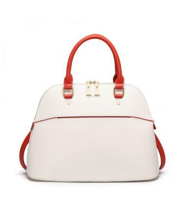 Miss Lulu béžová kabelka BOWLING STYLE 6905 LT6905_BEIGE