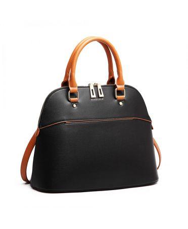 Miss Lulu černá kabelka BOWLING STYLE 6905 LT6905_BK
