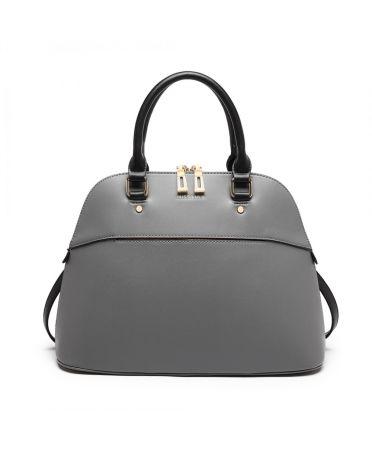 Miss Lulu šedá kabelka BOWLING STYLE 6905 LT6905_GY