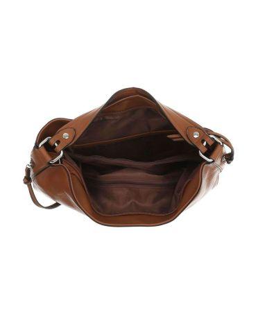 Dudlin Firenze hnědá velká shopper kabelka 2235-14 ta2235-14-cuoio