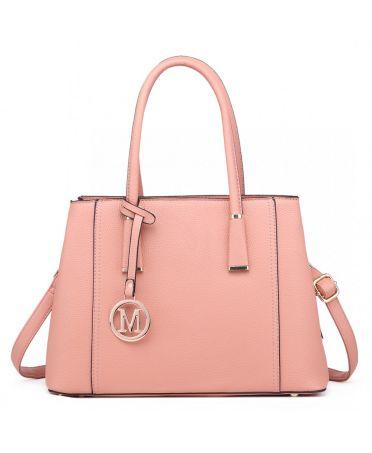 Miss Lulu růžová kabelka MULTI-COMPARTMENT 1748 LT1748_PK