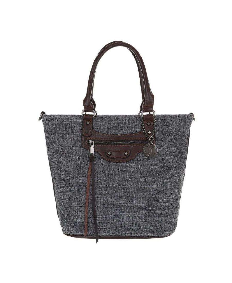 Micussi šedá velká shopper kabelka 5320-114 TA-5320-114-gray