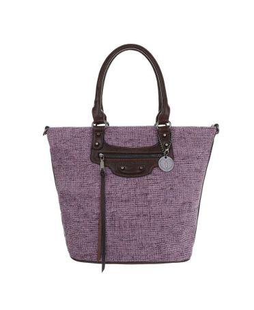 Micussi fialová velká shopper kabelka 5320-114 TA-5320-114-purple