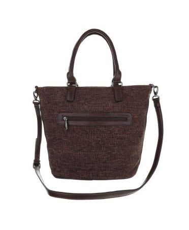 Micussi hnědá velká shopper kabelka 5320-114 TA-5320-114-brown